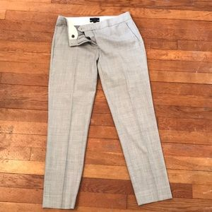 Grey ankle trousers from J Crew